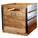 【P5倍】深みのある古木を使用し安定感のあるWOOD BOX! OLD TEAK BOX (L)(オールドチークボックス L ) BIMAKES(ビメイクス)