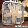 アメリカンスタイルでCoolに演出! ラスコ 3733 ボックスファン(LASKO BOXFAN) レギュラー 扇風機 ホワイト【あす楽対応】 デザインインテリア