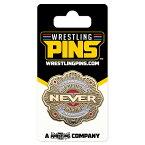 新日本プロレス NJPW NEVER無差別級王座ベルト センタープレート ピンバッジ