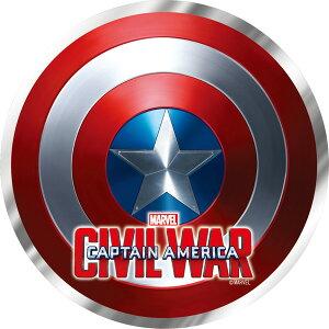 Marvel(マーベル) Captain America CIVIL WAR(キャプテン・アメリカ:シビル・ウォー) メタリックダイカットステッカー (シールド) [インロック]