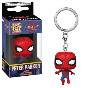 Marvel(マーベル) Spider-Man: Into the Spider-Verse(スパイダーマン: スパイダーバース) ピーター・パーカー(スパイダーマン) FUNKO/ファンコ POCKET POP! ボブルヘッド・キーチェーン
