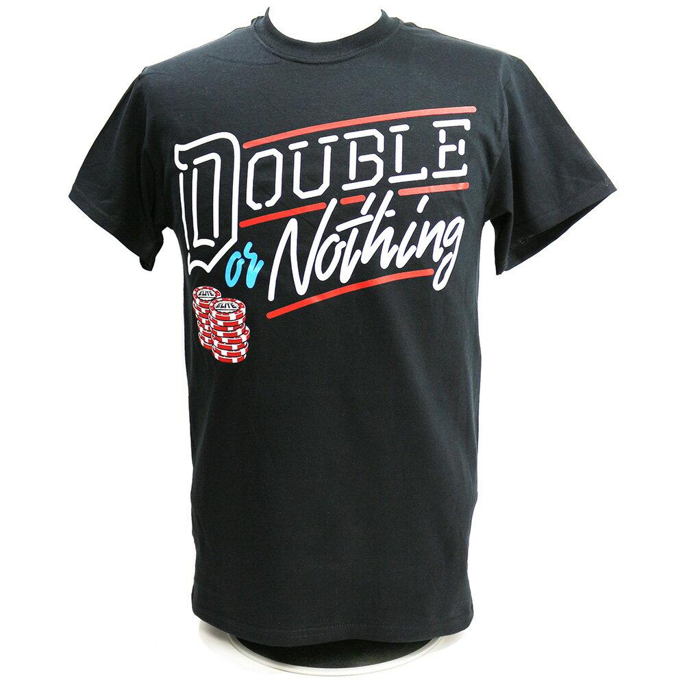【XXLサイズ】AEW Double or Nothing ブラックTシャツ