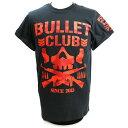 【US版】新日本プロレス NJPW BULLET CLUB(バレット・クラブ) Red Camo ブラックTシャツ