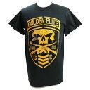 新日本プロレス NJPW Golden Elite(ゴールデンエリート) Shield ブラックTシャツ