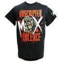 AEW Jon Moxley(ジョン・モクスリー) Unscripted Violence ブラックTシャツ