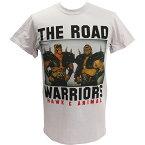 【XXLサイズ】WWE Road Warriors(ロード・ウォリアーズ) Classic ライトグレーTシャツ