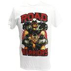 WWE Road Warriors(ロード・ウォリアーズ) Hawk and Animal ホワイトTシャツ