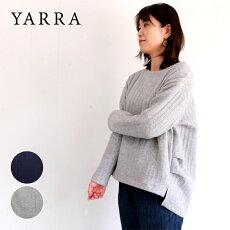 YARRA(ヤラ)カットソー無地ストライプキルトキルティングクルーネックプルオーバー日本製JAPANストライプ柄キルトプルオーバー