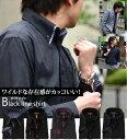 メンズシャツ ブラック 黒 yシャツ 黒 おしゃれ メンズ ブラックシャツ ワイシャツ 長袖 ボタン ...