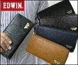 <送料無料>EDWIN エドウィン 財布 グレイン合皮Wメタルラウンド長財布 12289939