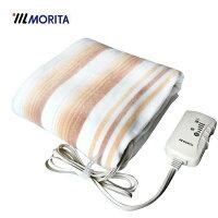 MORITA 電気毛布 MB-S14KS (電気しき毛布・電気敷き毛布・電気敷毛布) 洗濯OK・ダニ退治機能