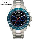 【送料無料】TECHNOS/テクノス クロノグラフ クオーツ メンズ 腕時計 TSM401SN