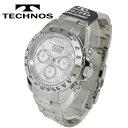 TECHNOS/テクノス クロノグラフ クオーツ メンズ 腕時計 TSM401SW