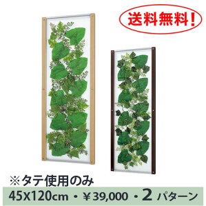 【送料無料♪】葉っぱのデザインを飾ろう!【グリーンIN3428】タテでもヨコでもスリムなアートフレーム♪