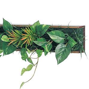 壁付け造花グリーンデザインポットラインタイプGR4184(アート壁掛けインテリアフェイクグリーン人工観葉植物フェイクグリーンパネルウォールグリーンウォールウォールアートプランターグリーン壁飾りポット壁面緑化玄関飾りおしゃれインテリアグリーン)