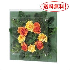 【送料無料♪】カジュアルにバラを飾ろう!【フラワーIN3448】立体感のある木パネル♪