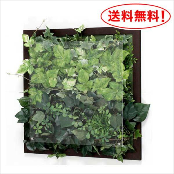 【壁掛けウォールグリーン☆IN3349】葉っぱだらけのアートパネル♪|ウォールグリーン フェイクグリーン グリーンパネル インテリアグリーン 観葉植物 額入り 壁面緑化 リーフパネル フェイク 壁掛け 壁付け おしゃれ オフィス