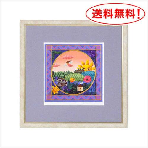 小澤摩純 ジークレー&シルクスクリーン版画(絵画 額入り 壁掛け フレーム 壁飾り 額...