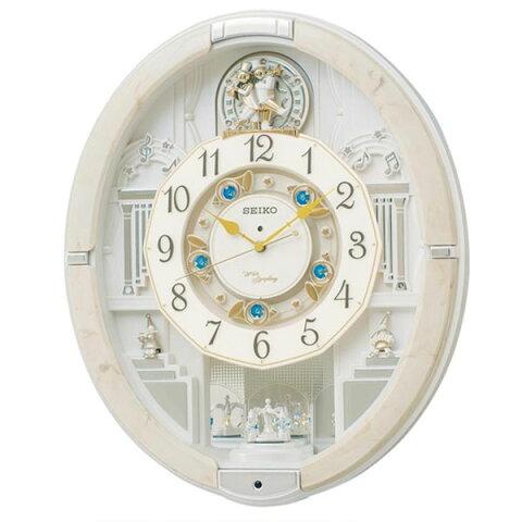【取り寄せ・同梱注文不可】 SEIKO セイコークロック 電波クロック 掛時計 からくり時計 ウエーブシンフォニー RE576A【代引き不可】【thxgd_18】
