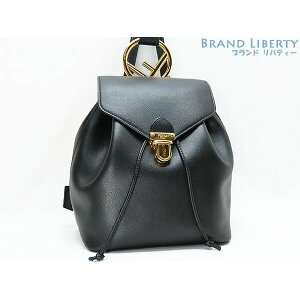 [Good Condition] Fendi F is Fendi Backpack Rucksack Black Gold Metal fitting Calf leather 8BZ043 [Used]