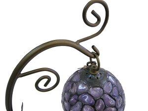 天然石ステンドグラスランプアメジスト【紫水晶】【ブラジル産】【自然石】