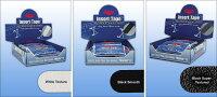 """【メール便可】【Master】マスターインサートテープ【Texturedホワイト、ブラックSmooth、SuperTexturedブラック】【1袋32枚(1/2""""は48枚)】"""