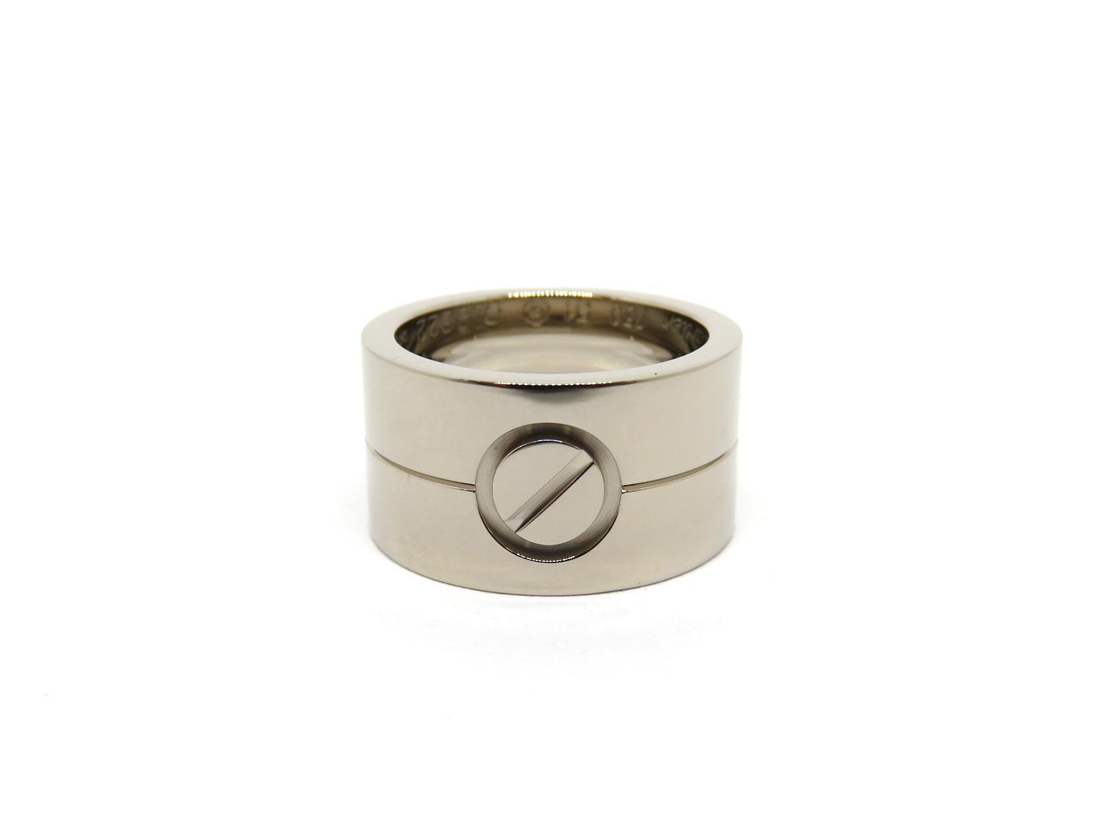男女兼用アクセサリー, 指輪・リング Cartier K18WG 51 16.2g