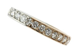 ☆B楽市本店☆本物プラチナPt900K18PGダイヤモンド1.00ctリング指輪9号