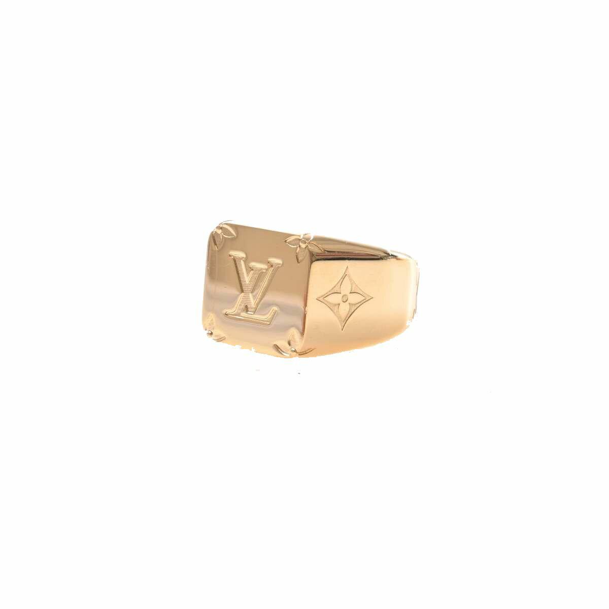ルイヴィトン LOUIS VUITTON モノグラム シグネットリング 指輪 ゴールド メタル