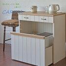 【日本製】【カリーナブラウンシリーズ】フレンチカントリー風キッチンカウンターまとめてコンパクトに収納出来るキッチン用収納カウンター【RCP】02P24Oct15