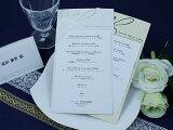 アルジェンテ メニュー 表 印刷なし セット 手作り キット ペーパーアイテム 結婚式 披露宴 ウエディング
