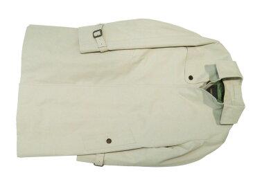 着心地が違う!! 国内縫製 SANYO GIZAコットン ギャバジン シングルトレンチ ハーフコート グレーベージュ
