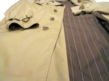 コットン100% シングルトレンチ ハーフコート 国内縫製 イタリアのサルトを