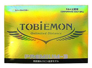 新品 TOBIEMONトビエモン 公認球 ゴルフボール PREMIUM-3 プロ使用3ピースボール