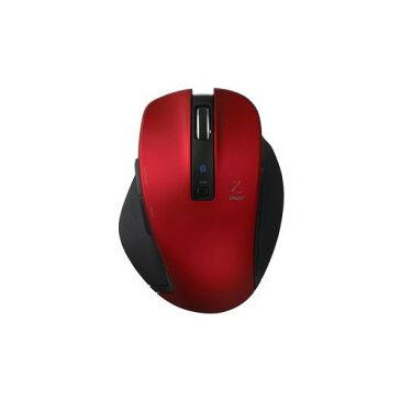ナカバヤシ BlueLED Bluetoothマウス Z 5ボタン Mサイズ レッド MUS-BKF131R