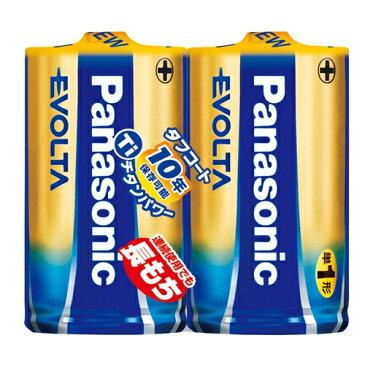 パナソニック Panasonic EVOLTA 単1形アルカリ乾電池 2本パック LR20EJ/2SE