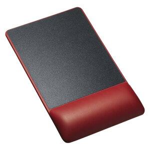 サンワサプライ リストレスト付きマウスパッド(レザー調素材、高さ高め、レッド) MPD-GELPHR