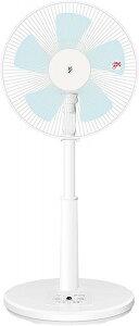 山善 扇風機 30cm リビング扇 マイコンスイッチ 風量3段階調節 タイマー機能 リモコン付き ホワイト YLR-AG303(W)