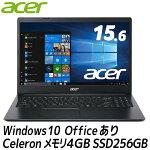 新品MicrosoftOffice搭載エイサーノートパソコンWindows10HomeintelCeleron/SSD:256GB/メモリ4GBA315-34-A14U/KF
