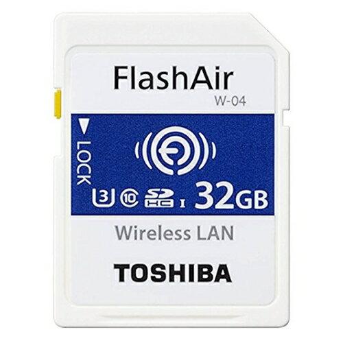 東芝メモリ FlashAir(フラッシュエアー)『SDHCメモリカード W-04 32GB(SD-UWA032G)』