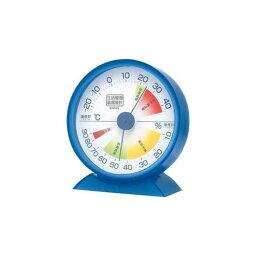 EMPEX 生活管理 温度・湿度計 卓上用 TM-2426 クリアブルー