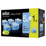 除菌 シェーバー用 アルコール除菌 ブラウン CCR5 クリーン&リニューシステム専用洗浄液カートリッジ 5個+1個入り CCR5-CR