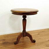 ラウンドサイドテーブル 丸テーブル カフェテーブル チーク 無垢 アジアン 北欧 アンティーク調 木製 ナイトテーブル ベッドサイドテーブル 花台 天然木 おしゃれ アジアン家具