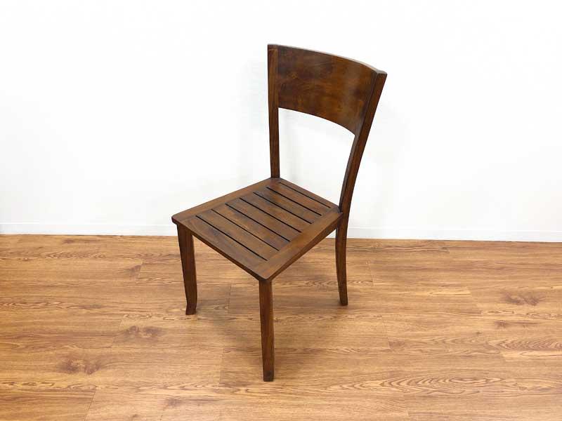 ダイニングチェア 天然木 木製 無垢 チェア イス チーク材 アジアン家具