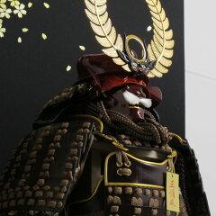 五月人形 鎧平飾り 雄山作 徳川家康公歯朶具足舞い桜火縄銃鎧飾り