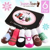 ジャージートー【Jazzy Toes】 出産祝いにオススメ!赤ちゃん用靴下6足セット(バラエティガール)