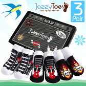ジャージートー【Jazzy Toes】 出産祝いにオススメ!赤ちゃん用靴下3足セット(ロックンソックス)