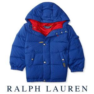 ラルフローレン【Ralph Lauren】フード付ダウンジャケット(ブルー)【あす楽対応】(ベビー 出産祝い 赤ちゃん 女の子 男の子 おくるみ 防寒 )