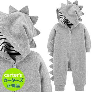 【残り6M,9M,12M】安心のカーターズ正規品 (Carter's)裏毛ニットカバーオール(Spike)【カバーオール, 綿, ジャンプスーツ, 防寒, パジャマ, 部屋着, 寝巻, ベビー, 赤ちゃん】