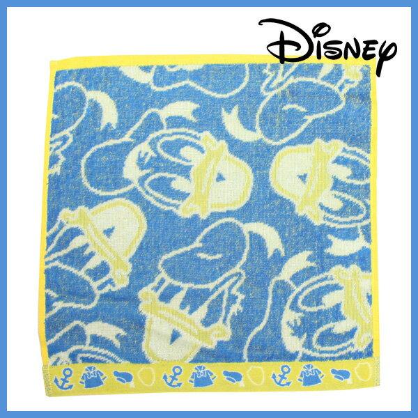メール便可【ディズニー】ドナルドフェイスBL(縁取りイエロー)ジャガード【ハンドタオル】ドナルドダッグバスタオルフェイスタオルスポーツタオルバスタオルディズニーバッグ・小物・ブランド雑貨Disneyzone